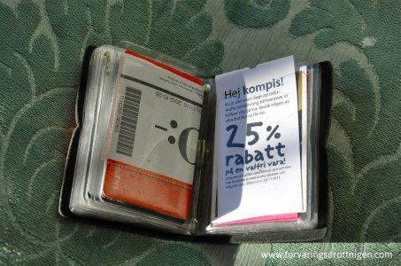 Visitkortshållare Ordning och Reda - öppen